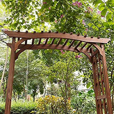 Palos - Árbol de Madera para jardín con Acabado de Canela, Estilo ...