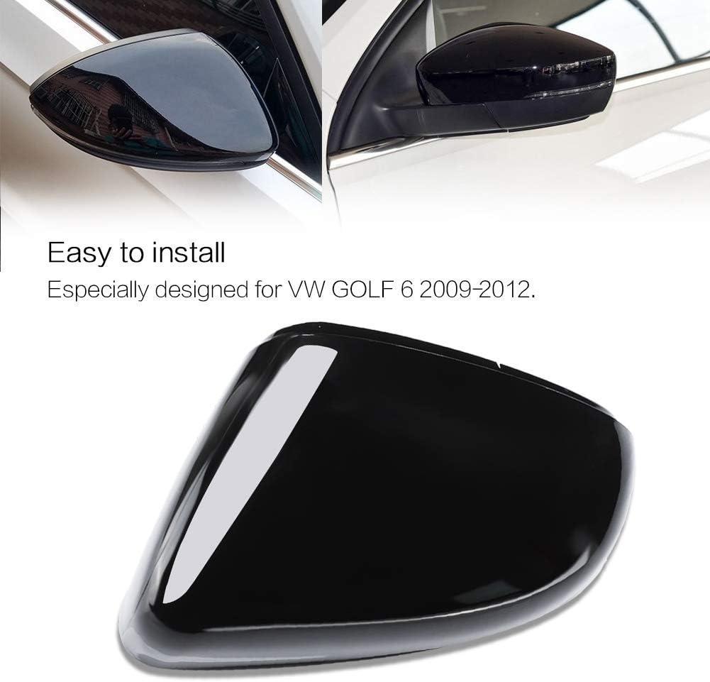Fydun Gehäusedeckel Spiegelgehäuse Schwarz Auto Links Rückspiegelgehäuse Shell Cover Für Golf 6 2009 2012 Auto