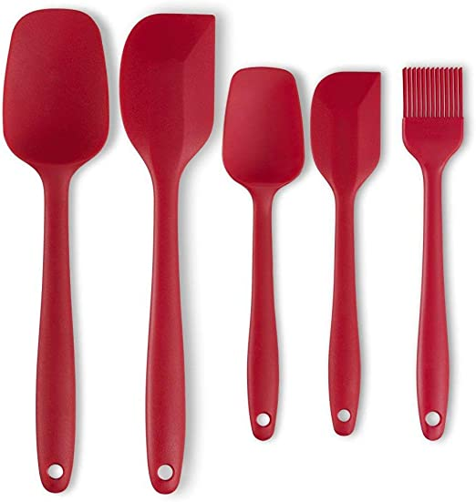 Baby Spoon Double Head Silicone Stainless Steel Heat Resistance Dishes Supplies