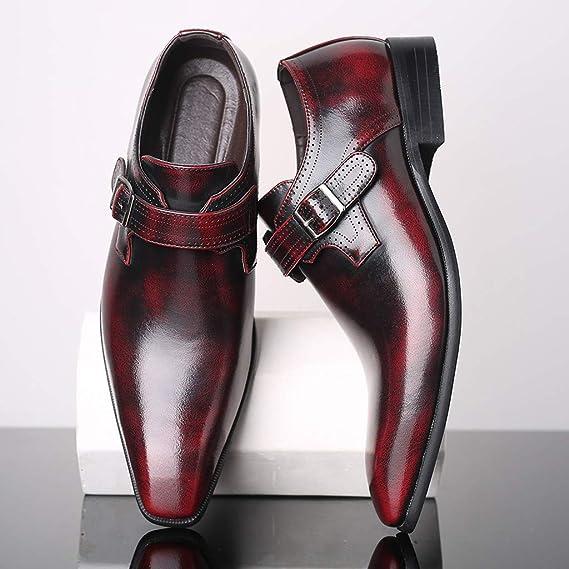 Vaycally Zapatos de uniforme de moda para hombre, dos tonos ...