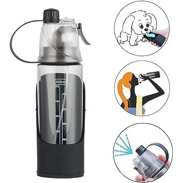 ADOGGYGO Dog Water Bottle for Walking, Travel Water Bottle Dispenser for Dogs,Pet Mist Spray Bottle Portable Human & Dog Sports Water Bottle