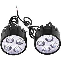 Duokon 1 paar 12 V motorkoplampen, universeel, 12 V, LED-spot, lampkop.