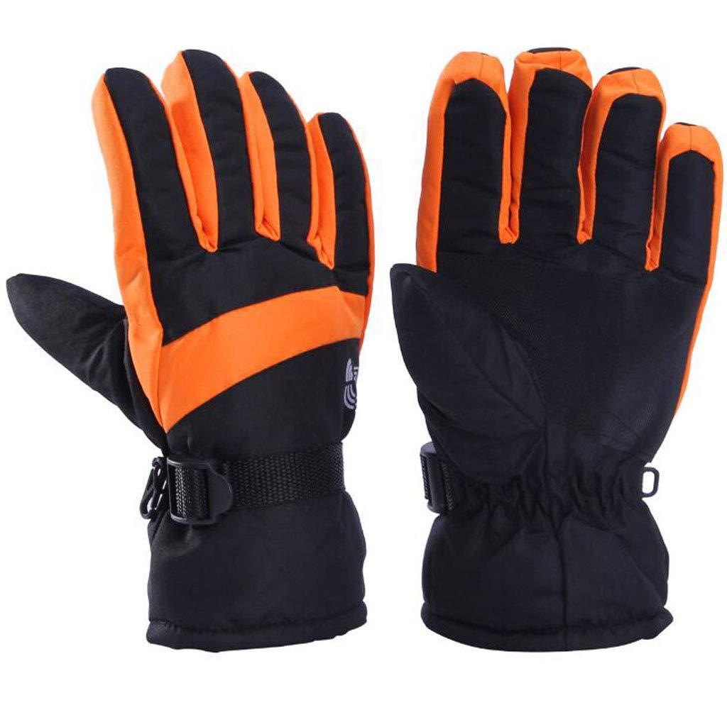 JSHFD Herrenhandschuhe, Winter-Outdoor-Ski-Reithandschuhe, kalte und Winddichte, Wasserdichte, Rutschfeste warme Handschuhe