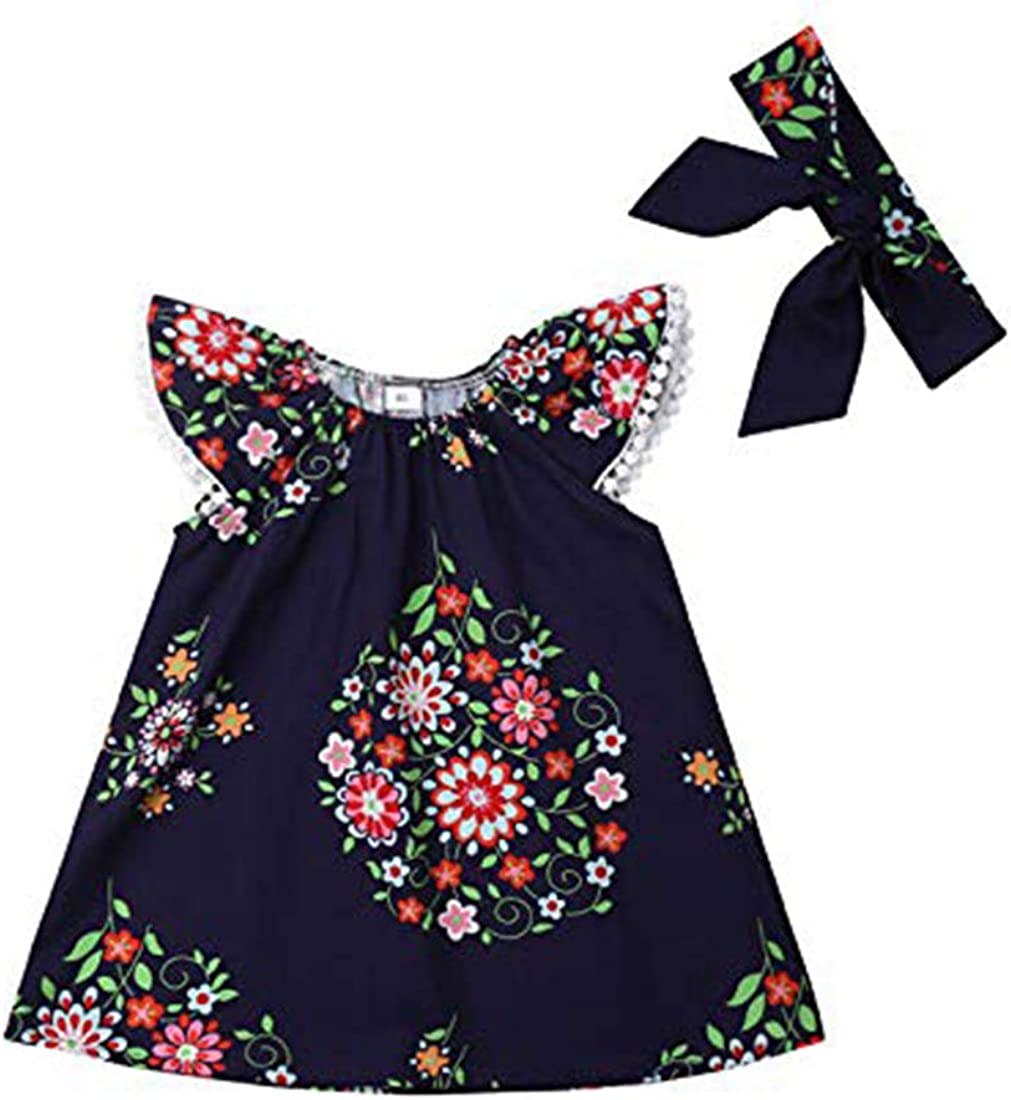 bilison Little Girl Ruffle Ethnic Embroidery Floral Dress Sleeveless Party Sundress Skirt Clothes Set