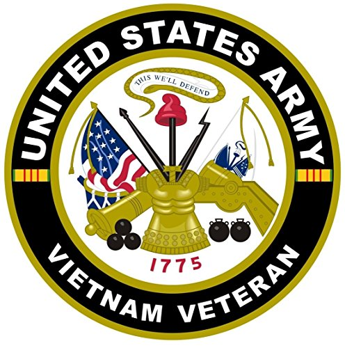 """1-Pc Great Popular United States Army Vietnam Veteran Stickers Sign Car Decal Outdoor Indoor Size 8"""" x 8"""""""