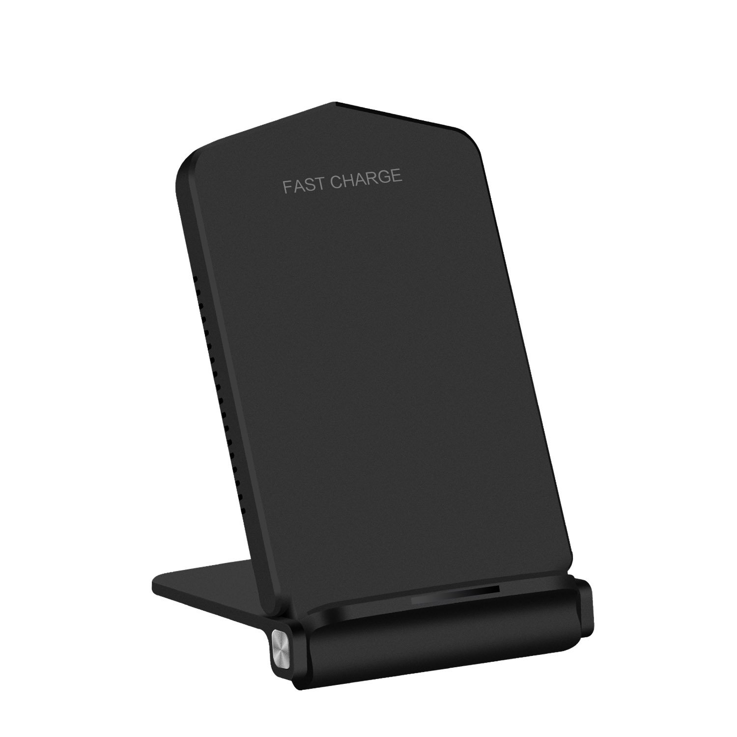 Qi Wireless Quick Charging Pad Stand, 2-Coil Fast Wireless Charger for Galaxy S9/S9 Plus, Galaxy Note 8, iPhone X, iPhone 8/8 Plus, and most Qi-Enabled Devices - Black