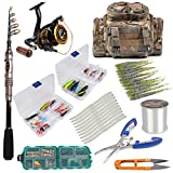 Dr.Fish [Spring Sale] Fishing Rod and Reel Combos Package 7FT Outfit Set Lines Lure Bait Accessories Fishing Carrier Bag Gear Organizer Freshwater Saltwater Review