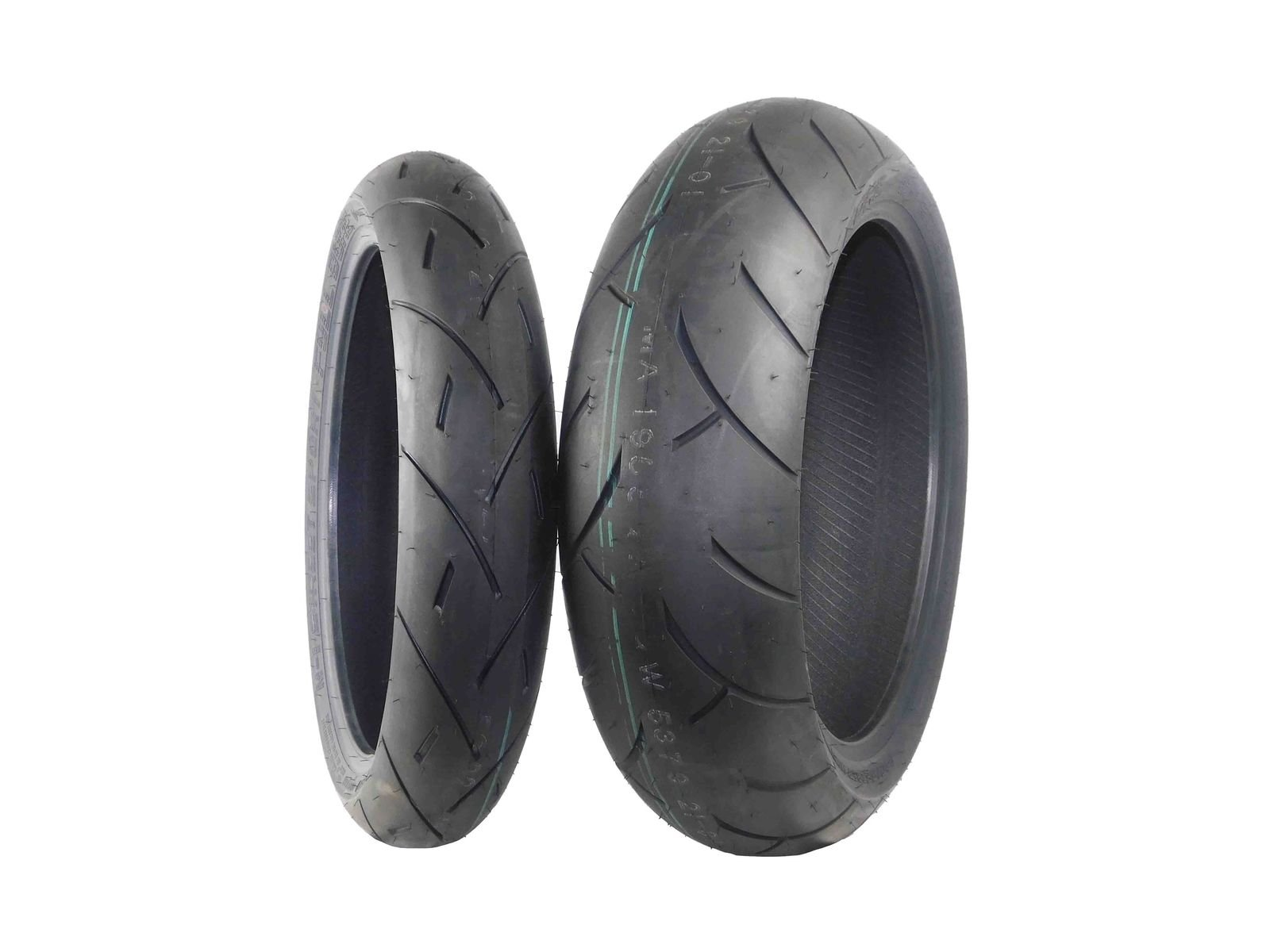 Full Bore M1 Sport Bike Tire set (1 Front 120/70ZR17 & 1 Rear 160/60ZR17) Tires pair 120/70-17 160/60-17