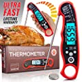 Alpha Grillers Pen Thermometer Instant Read Meat. Ultra Fast Digital Cooking Tool With BBQ Internal Temperature Chart.