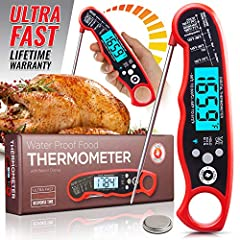 Here's Why You'll Love Our Instant Read Thermometer:       Speed (2-5 sec). Accuracy (±1°F). Super Easy To Use. All this for less than 20 bucks!       Still unsure? Our LIFETIME MONEY BACK GUARANTEE removes all risk.                Coo...