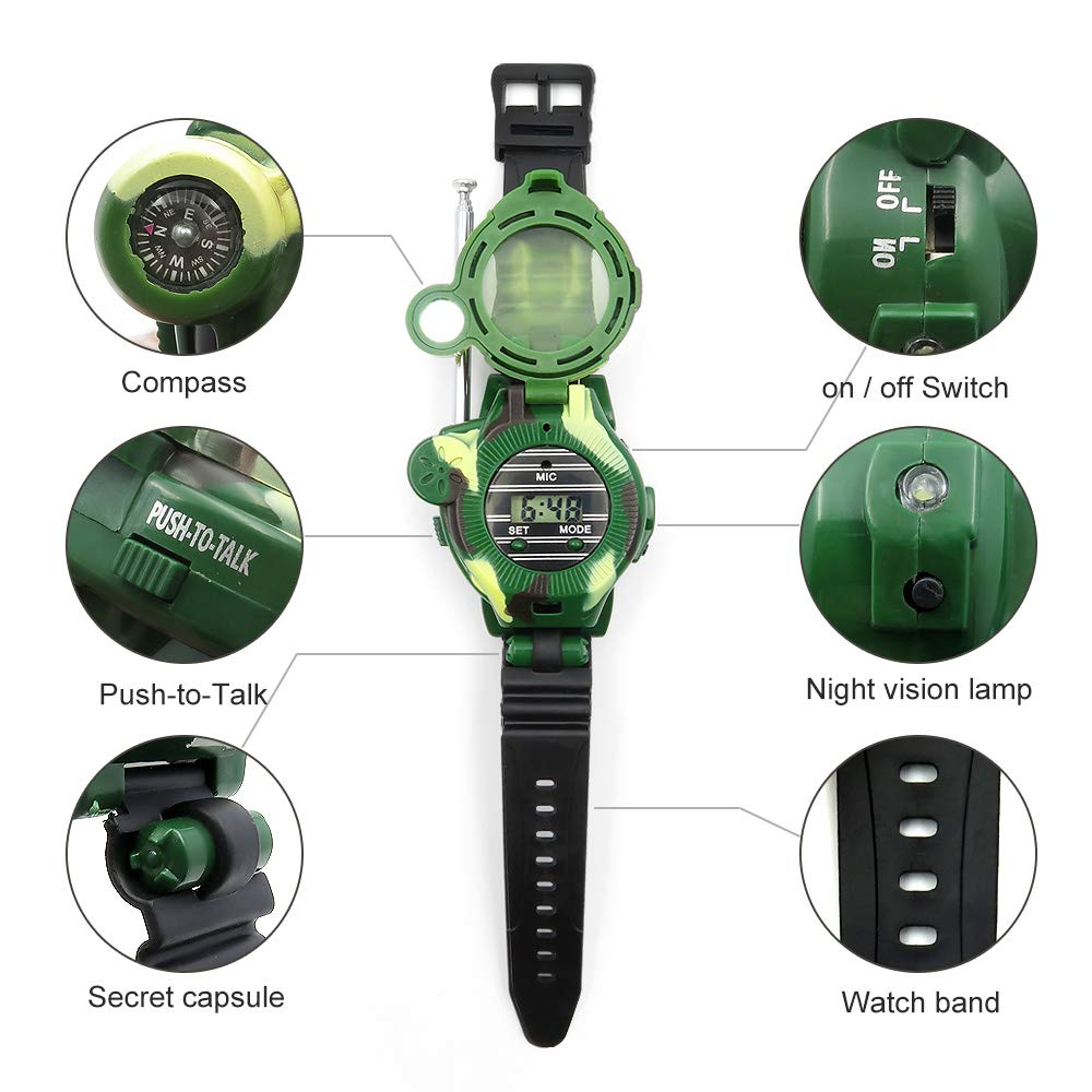 Kids Walkie Talkies, XHAIZ Long Range Walky-Talky Watch for Kids, Cool Outdoor Gifts For Boys and Girls by XHAIZ (Image #3)