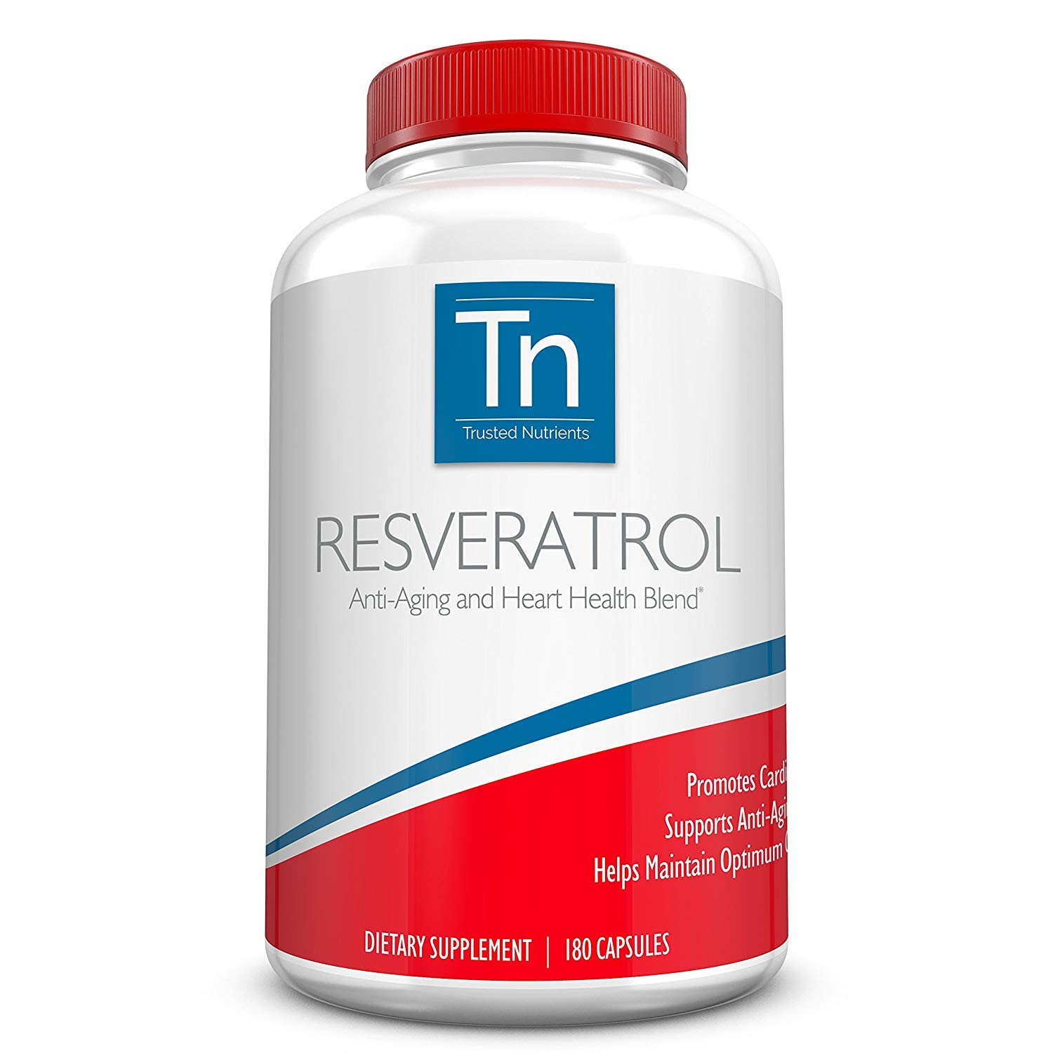 Trusted Nutrients Resveratrol Supplement - Anti-Aging and Heart Health Blend - with Trans Resveratrol, Grape Seed Extract, Acai Berry and Maqui Berry - 1000 mg 180 Vegetarian Capsules by Trusted Nutrients