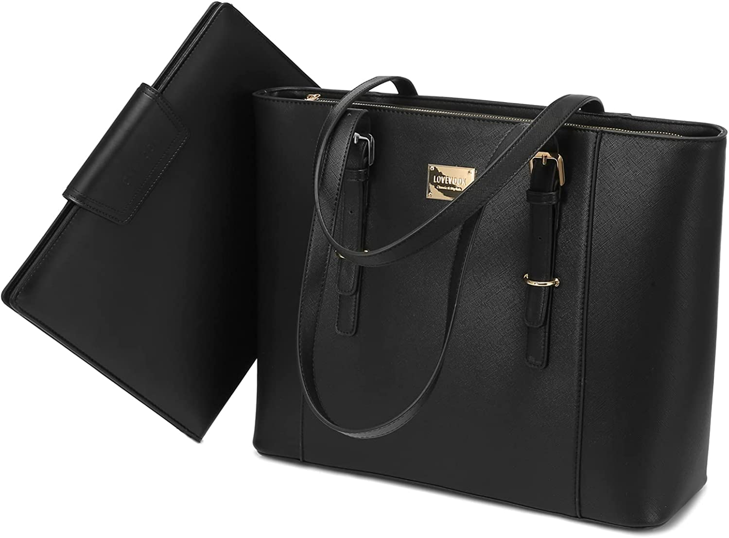 Laptop Bag for Women Large Office Handbags Briefcase Fits Up to 15.6 inch (Updated Version)