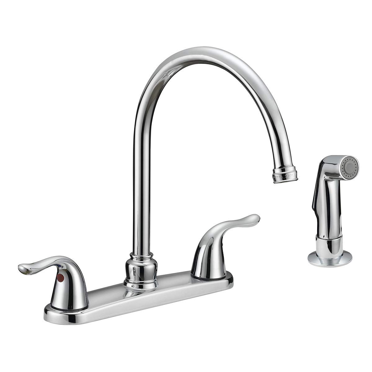 EZ-FLO 10201 Two-Handle Kitchen Faucet with Spray, Chrome
