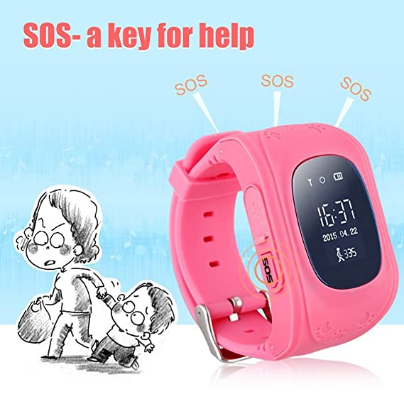 Amazon.com: Children Smart Watch GPS Tracker SOS Call Kids ...