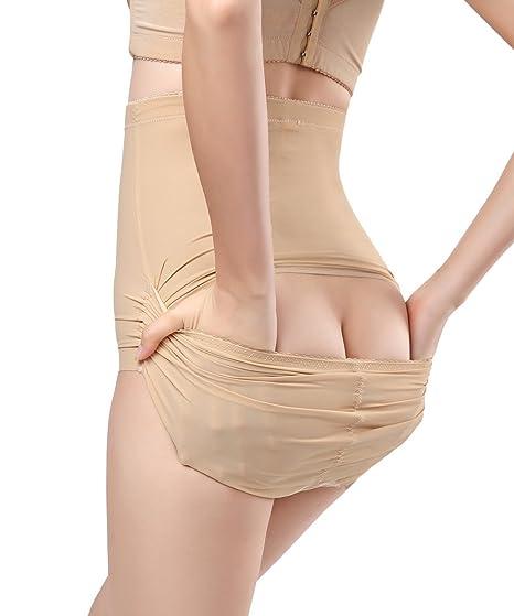 238f5ae21a2b6 FUT Women s Shapewear High Waist Brief Panty Shaper Sliming Underwear at  Amazon Women s Clothing store