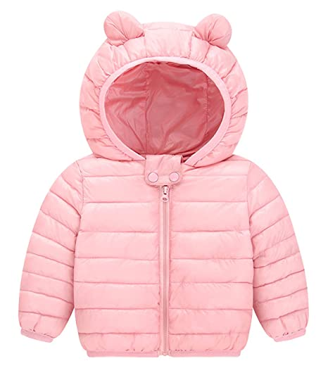d28dd41f1 Amazon.com  Toddler Girls Puffer Jacket Hooded Overcoat Lovely ...