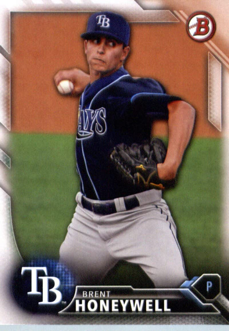 2016 Bowman Draft #BD-184 Brent Honeywell Tampa Bay Rays Baseball Card-MINT