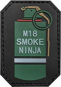 Morton Home M18 Smoke Ninja 3D PVC Tactical Morale Badge Rubber Patch (Red)