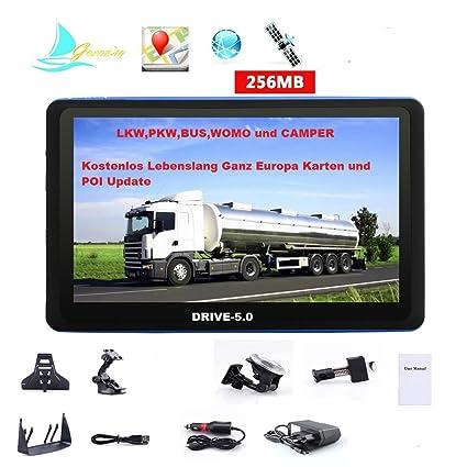Dispositivo de navegación para camiones (Truck), para coches, caravanas y Camper Bus