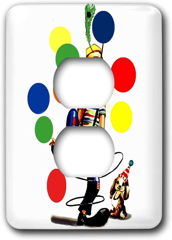 3drose Lsp 1258 6 Fun Clown 2 Plug Outlet Cover Switch Plates Amazon Com