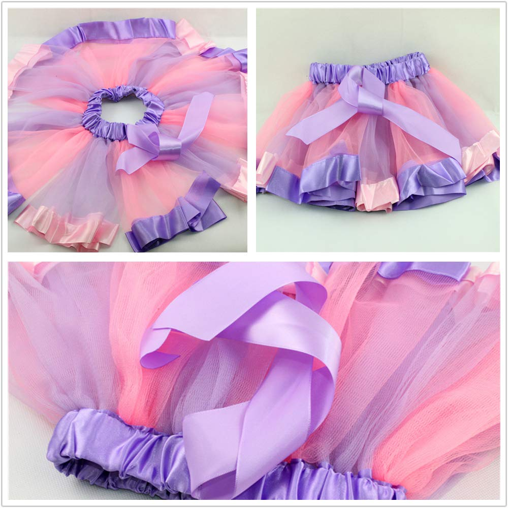 WEISIPU Girls Ballet Tutu Dress Skirt Set Kids Birthday Princess Party Favor
