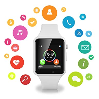 Amazon.com: Smart Watches for Android Phones,IOQSOF Anti-Lost Touch Screen Bluetooth Smart Watch with Camera,Waterproof Smart Wrist with SIM Card Slot for ...