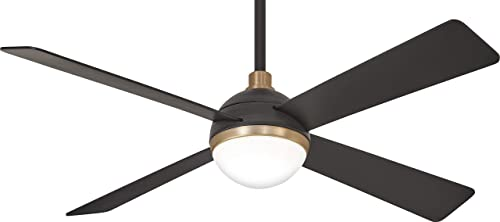 Minka-Aire F623L-BC SBR 54 Orb LED Ceiling Fan in Brushed Carbon Soft Brass Finish