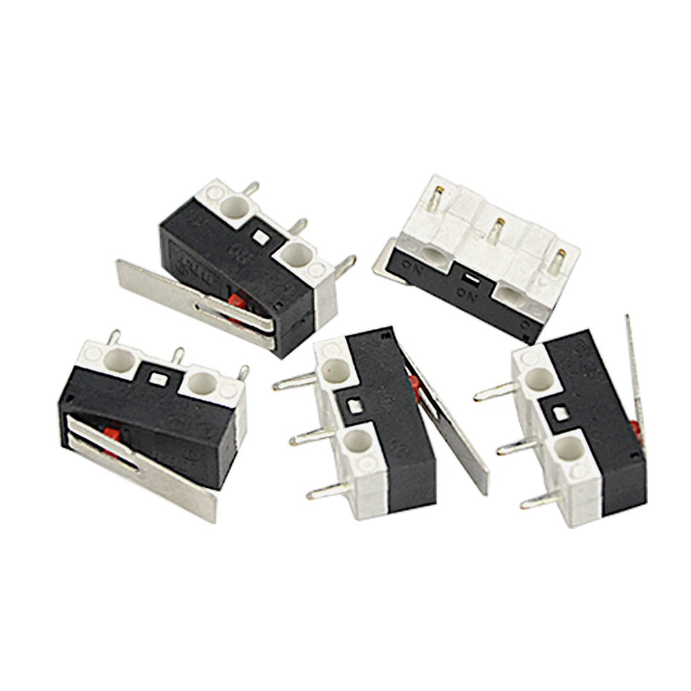 WMYCONGCONG 50 PCS AC 2A 125V 3 Pin SPDT Limit Micro Switch Long Hinge Lever for Arduino WGCD