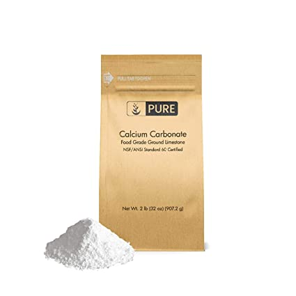 Calcium Carbonate Powder (2 lb ) by Pure Organic Ingredients, Eco-Friendly  Packaging, Dietary Supplement, Antacid, Food Preservative, More