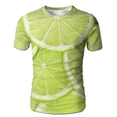 78c553d632e Genieve Lopez Men's T Shirts 3D Digital Full Printed Green Lemon Design  Summer Casual Short Sleeves