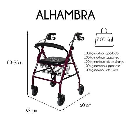 Mobiclinic, Modelo Alhambra, Andador para mayores, minusválidos ...