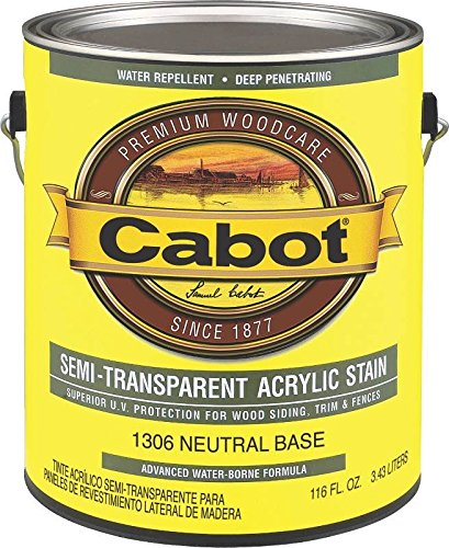 Cabot Deck & Siding Stain Exterior Neutral Base Semi Transparent 116 ()