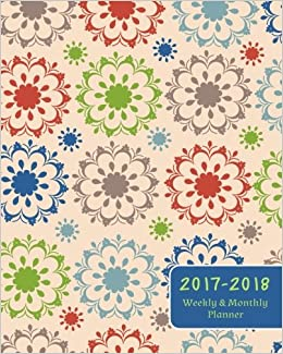 2017 2018 weekly and monthly planner islamic seamless design and