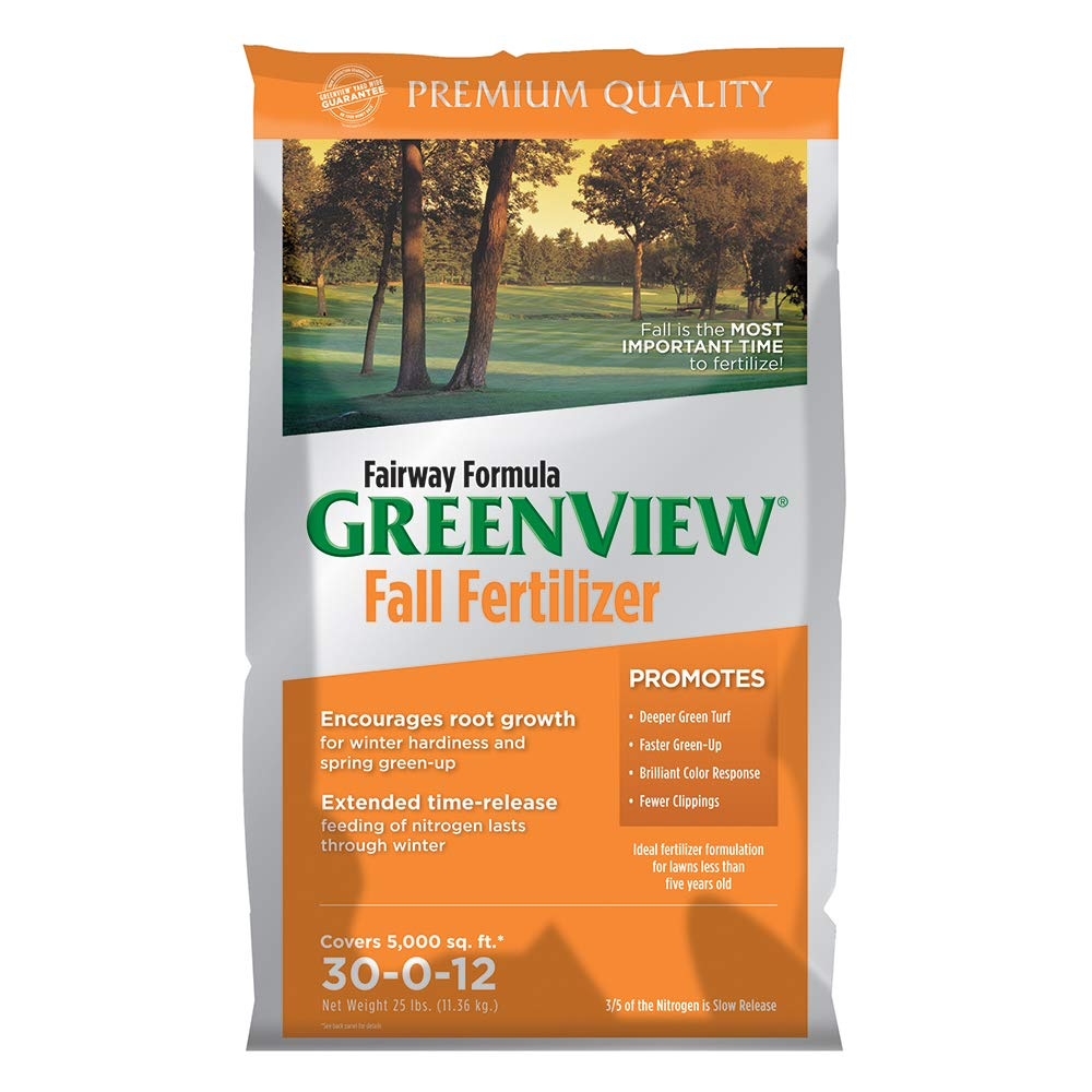 GreenView 21-29175 Fairway Formula Fall Lawn Fertilizer-25 lb, 25 lb. -Covers 5,000 sq. ft