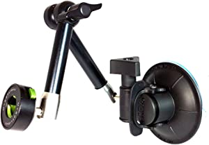 MYGOFLIGHT Flex Suction Cup Articulated Arm Sport Mount – Universal iPhone iPad Android Tablet Phone Camera GPS ELD for Airplane Helicopter Car RV Truck and Boat Windshield Window and Dash Mounting