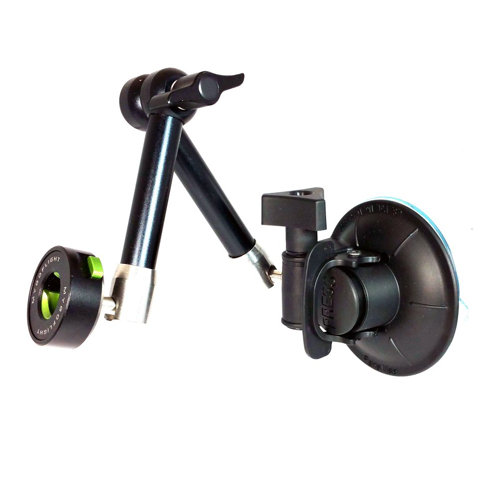 Flex Suction Mount by MYGOFLIGHT (Mounts on any smooth surface)