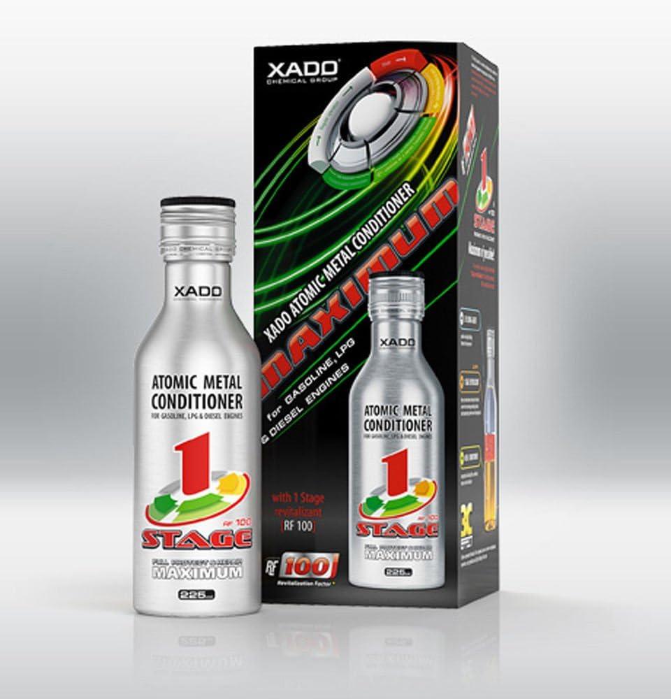 XADO, aditivo para aceite de motor. Protege el motor, restaura las superficies y actúa contra el desgaste. Acondicionador molecular con Revitalizant® 1 Stage Maximum (para 5L de aceite): Amazon.es: Coche y moto