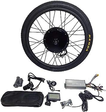 theebikemotor 48V1500W Cassette Motor Electric Bike Bicicleta ELÉCTRICA Kit DE CONVERSIÓN 8 Or 9 Or 10 Speed Gear + Tire + LCD Display: Amazon.es: Deportes y aire libre