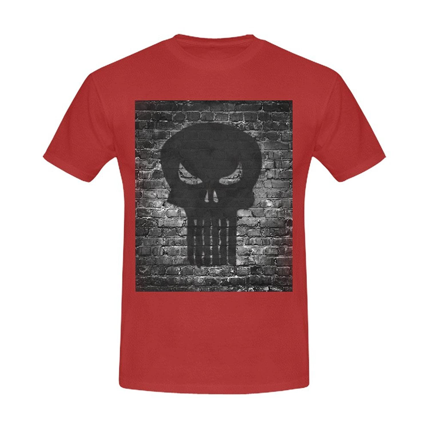 Burrows Custom Skull Men's Slim Fit T-shirt Cinnamon