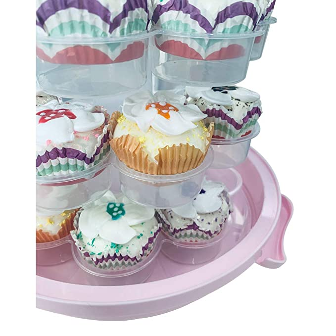 Plastic Locking Cupcake Holder /& Cake Carrier Container Box Bakery Supplies