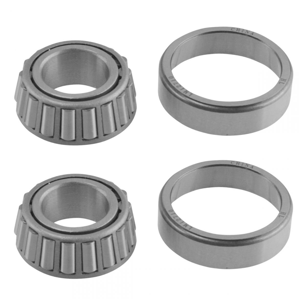 Front Inner /& Outer Wheel Bearing w//Seal Pair LH /& RH Sides for Ford F150 2WD