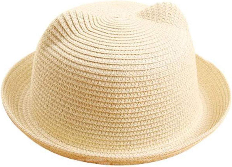 2019 Fashion Sun Hats Summer Lovely Cat Ear Sun Hat Summer Hats Children Kids Girls Boys Straw Caps
