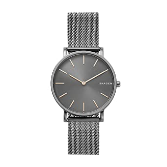 50758b3833 Skagen Men's Hagen Japanese-Quartz Watch with Stainless-Steel Strap, Grey,  18