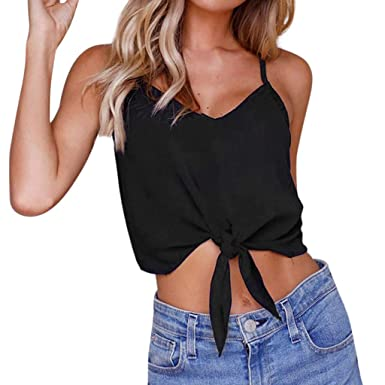 0ee14a798 Ratoop Womens Spring Sleeveless V Neck Solid Color Casual Swing Shirts  Flowy Tank Tops Blouses Black