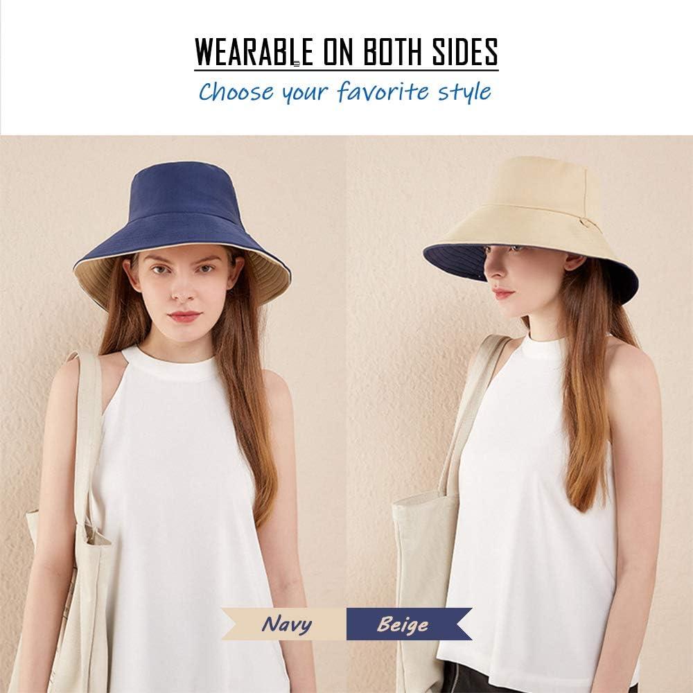 Unisex Fischerhut Sommer Wandern Hut Doppelseitige Verwendung Gisdanchz Sonnenhut Anglerhut UV Schutz