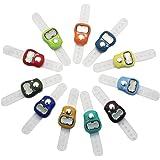 SelfTek LCD-Handzähler, elektronischer Reihenzähler mit Fingerring, zufällige Farbe