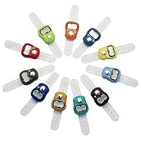 SelfTek LCD Tally Zähler Elektronische Zeilenzähler mit Fingerring zufällige Farbe