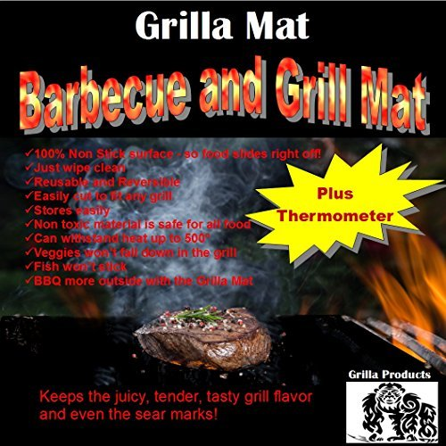 Grill Mat Set of 4 (Grilla Products) - Perfect for Grilling, BBQ, Smoking and Baking. Use With Gas, Charcoal Barbecue, Electric Smoker or Oven (15.75'' x 13'') Grilling eBooks