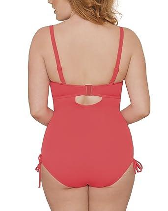 34a9325607 Maillot de bain 1 pièce bonnets paddés avec armature Siren Corail fluo:  Amazon.fr: Vêtements et accessoires